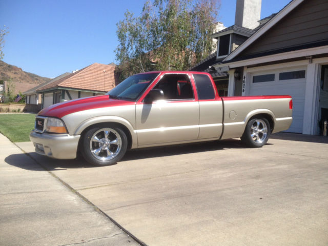 2001 gmc sonoma s 10 s10 ext cab custom paint low miles. Black Bedroom Furniture Sets. Home Design Ideas