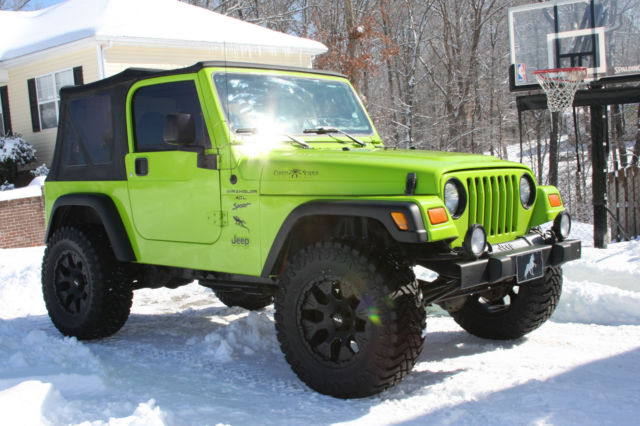 jeep wrangler tj paint green 2001 sport gecko 4x4 clean