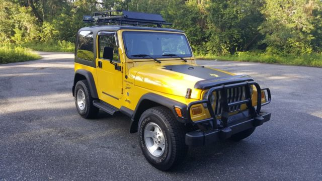 2001 Jeep Wrangler Tj 4x4 A C Roof Rack Super Clean Body