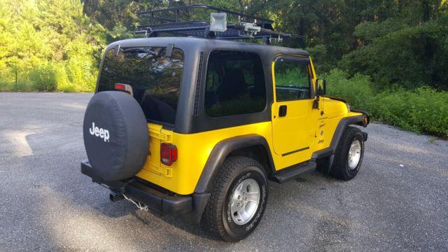 2001 Jeep Wrangler Tj 4x4 A C Roof Rack Super Clean Body