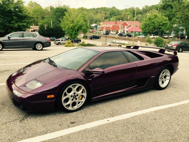2001 Lamborghini Diablo 6 0 Vt Rare 1 Of 5 Factory Color Viola