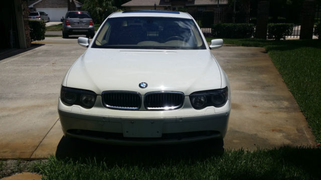 2002 BMW 745i White CLEAN