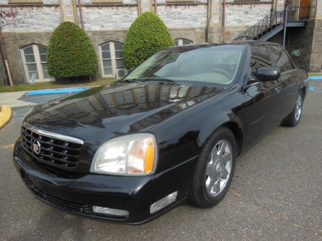 2002 Cadillac Deville Dts Nice Black Exterior Smooth