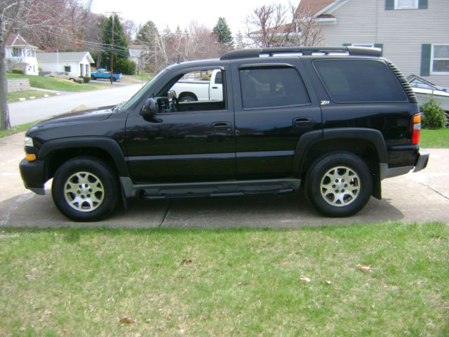 2002 Chevrolet Tahoe Z71 Black Good Condition 4x4