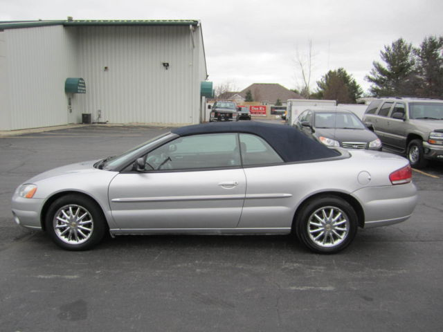 2002 Chrysler Sebring Convertible Loaded Leather Interior Nice Color Combo