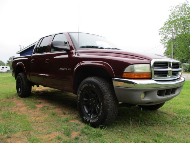 2002 dodge dakota slt crew cab pickup 4 door 4 7l. Black Bedroom Furniture Sets. Home Design Ideas