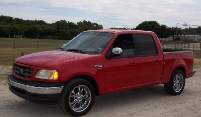 2002 ford f 150 xlt crew cab 4 door short bed 20 inch wheels no reserve. Black Bedroom Furniture Sets. Home Design Ideas