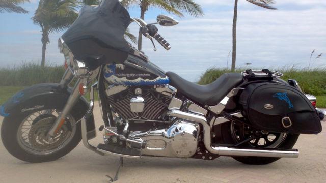 2002 Harley Davidson Nautical Softail Custom Fxst Bagger