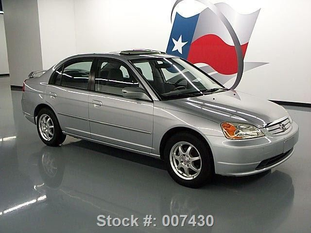 2002 honda civic ex sedan auto sunroof spoiler 59k mi for Honda civic sunroof