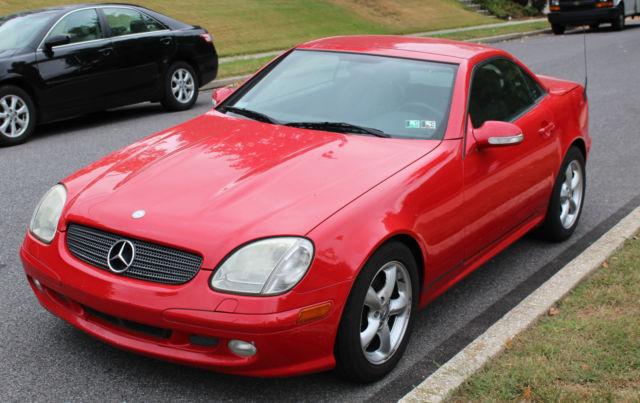 2002 mercedes benz slk 320 convertible hard top coupe red for Mercedes benz red convertible
