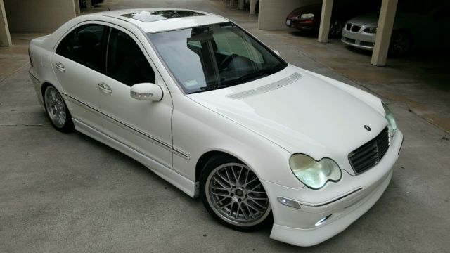 2002 mercedes c240 sport lowered body kit ace wheels for Mercedes benz c class body kit