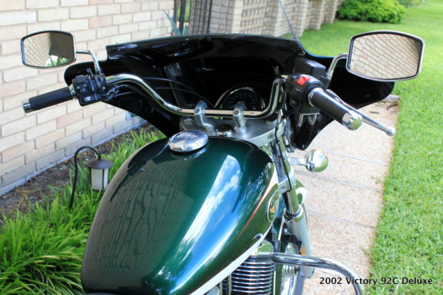 2002 Victory V92c Deluxe Motercycle Briitish Racing Green