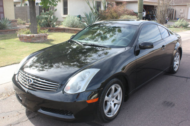 2003 black infiniti g35 2 door coupe 124k miles affordable sports car. Black Bedroom Furniture Sets. Home Design Ideas