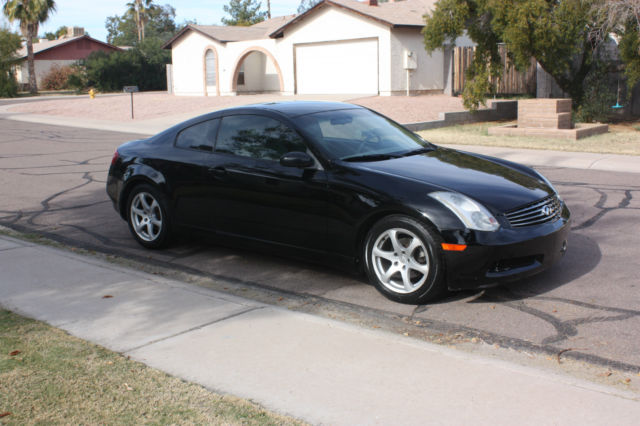 2003 black infiniti g35 2 door coupe 124k miles affordable sports car. Black Bedroom Furniture Sets. Home Design Ideas