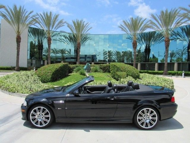 2003 Bmw M3 Convertible Black Smg Transmission Low Miles