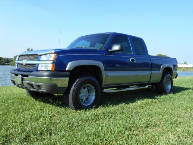 2003 chevrolet silverado 1500 z71 4x4 custom lifted florida truck rust free. Black Bedroom Furniture Sets. Home Design Ideas