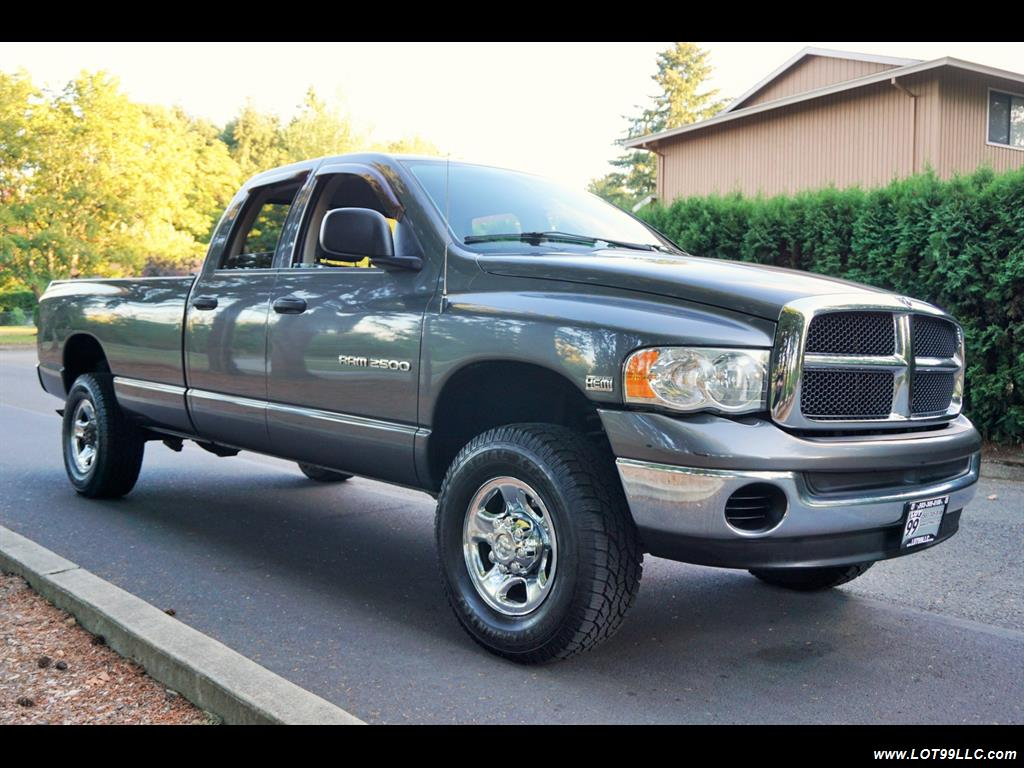2003 Dodge Ram 2500 4dr 5 Spped Manual Slt Hemi 4x4 Long Bed Technical Specifications