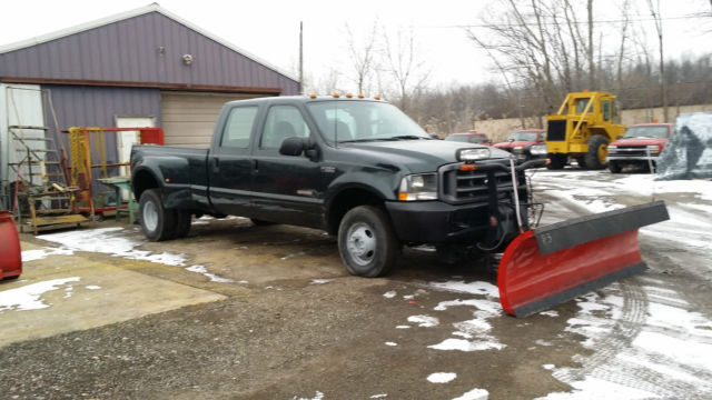 F350 Snow Plow >> 2003 FORD F350 SUPERDUTY 4 X 4 CREWCAB DUALLY SNOWPLOW TRUCK BOSS 8' PLOW