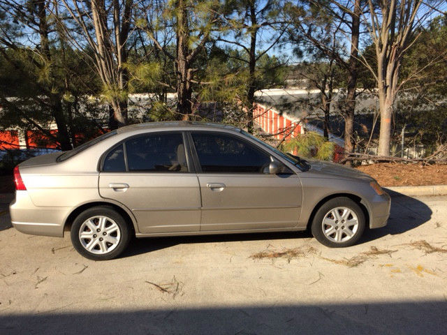 2003 Gold Honda Civic Ex Sedan 4 Door 1 7l With A Sunroof Needs Engine Replaced
