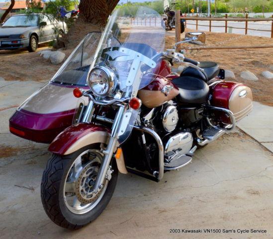 2003 Kawasaki Vulcan Nomad 1500 VN1500 Sidecar Fuel Injected