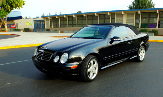 2003 mercedes clk 430 convertible black california car. Black Bedroom Furniture Sets. Home Design Ideas