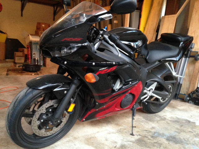 2003 Yzf R6 Black With Red Flames