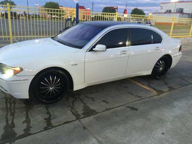 2004 BMW 745 LI White W Black Top 22inch Rims Tires Very Clean