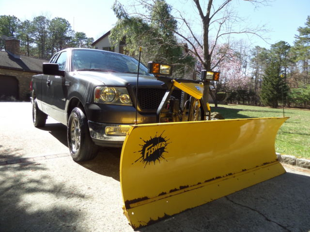 2004 f 150 quad cab 4x4 snow plow no reserve. Black Bedroom Furniture Sets. Home Design Ideas