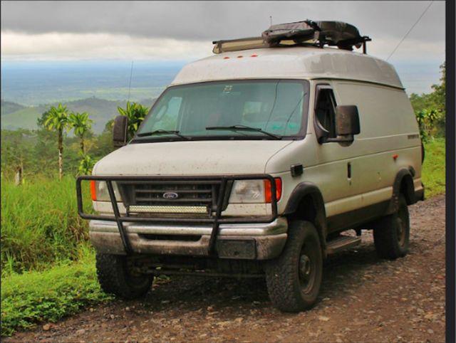 26f9c98150 2004 Ford E-350 Extended Diesel Camper Van 4x4 Quigley Adventure Beast