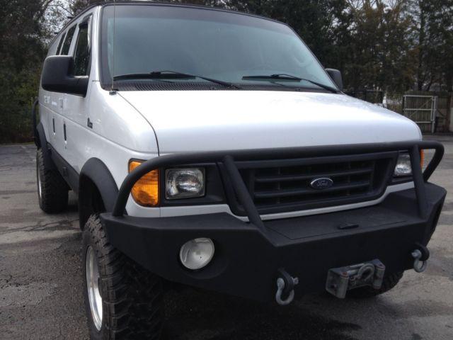 2004 Ford E350 Quigley 4x4 Ext Cargo Van 4x4  Diesel  123k