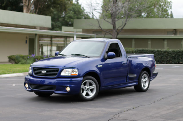 2004 FORD LIGHTNING SVT SONIC BLUE CLEAN LOW MILEAGE SUPERCHARGED F 150