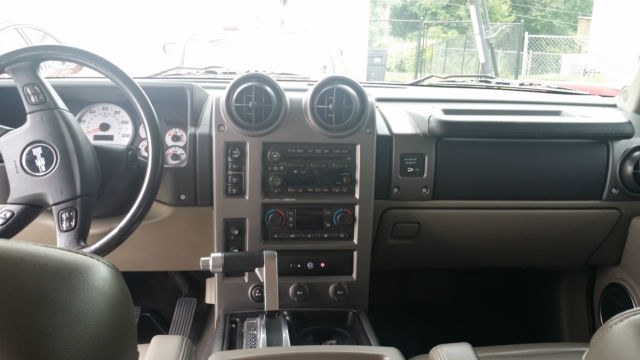 2004 Hummer H2 Maroon Red With Grey Leather Interior Loaded With