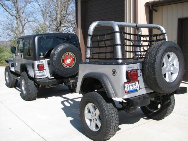 2004 Jeep Wrangler Rubicon With Custom Jeep Trailer