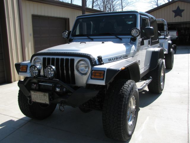 2004 jeep wrangler rubicon with custom jeep trailer. Black Bedroom Furniture Sets. Home Design Ideas