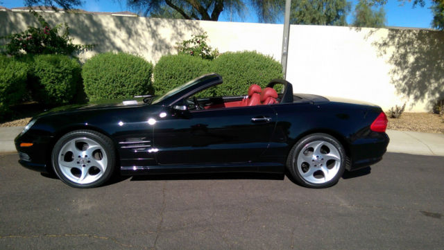 2004 Mercedes Benz Sl 500 Black Exterior Red Interior