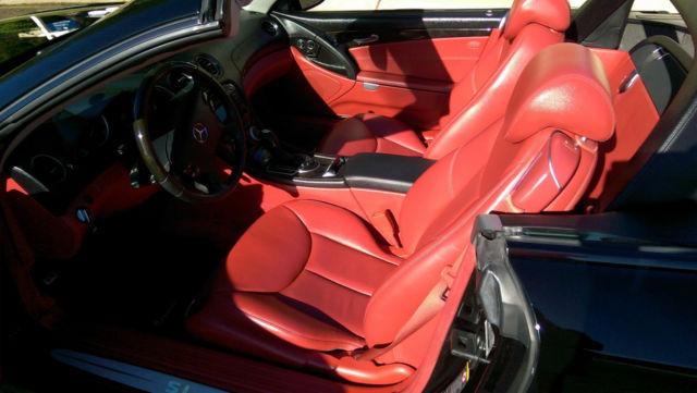 2004 Mercedes Benz Sl 500 Black Exterior Red Interior