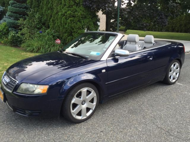 2005 Audi S4 Convertible Mileage 79 422 Soft Top Blue Great Condition