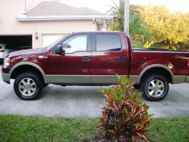 2005 f 150 king ranch burgundy crew cab fully loaded excellent condition. Black Bedroom Furniture Sets. Home Design Ideas