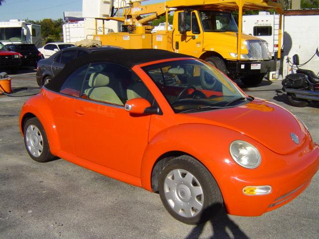 2005 FLORIDA VW Beetle GL Convertable RARE ORANGE / BLACK ONLY 84K