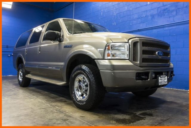 2005 Ford Excursion Limited 4x4 6 8l V10 Leather Dvd 3rd Row Pickup Truck Suv