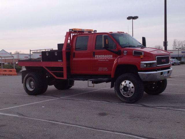 412459 2005 Gmc C4500 Kodiak 4x4 Crew Cab 225 Big Truck Tires Edge Tuner Low Miles