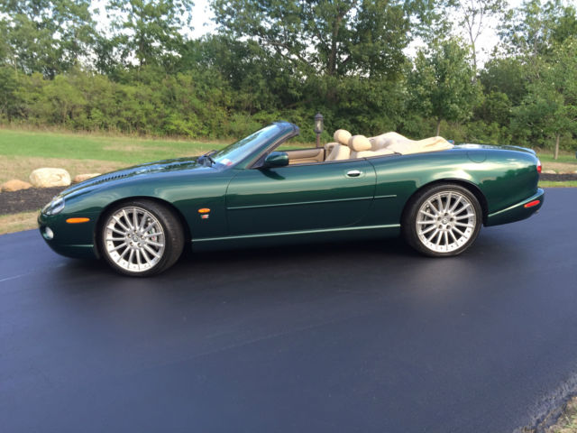 2005 jaguar xkr supercharged convertible british racing green tan. Black Bedroom Furniture Sets. Home Design Ideas