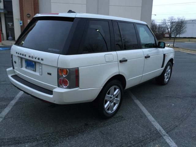 2005 Land Rover Range Rover 44 HSE White Fantastic condition
