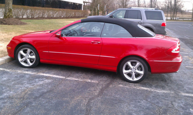 2005 Mercedes Clk 320 Convertible Mars Red Low Miles