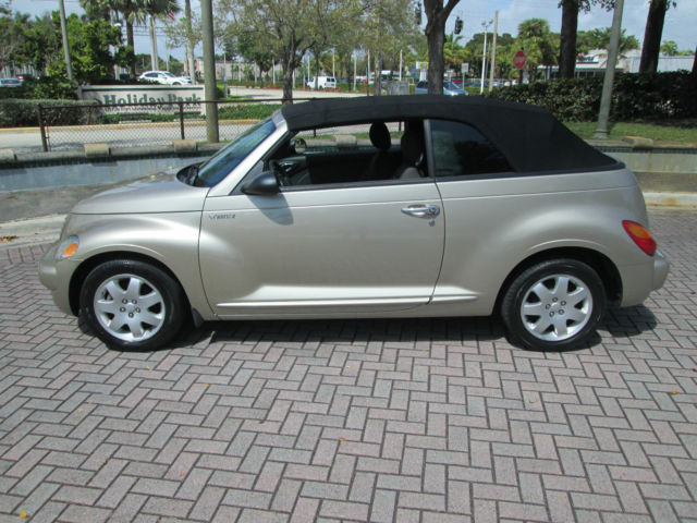 2005 pt cruiser convertible touring 2 4 l turbo florida 2 owner automatic new. Black Bedroom Furniture Sets. Home Design Ideas