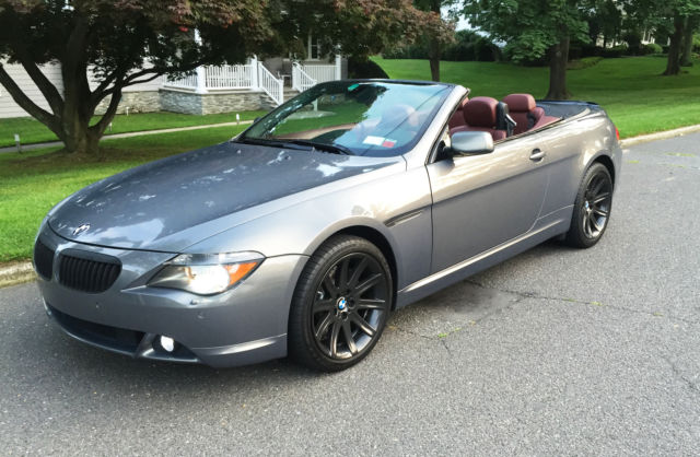 2006 650i convertible gray on red 33k miles quick sale. Black Bedroom Furniture Sets. Home Design Ideas