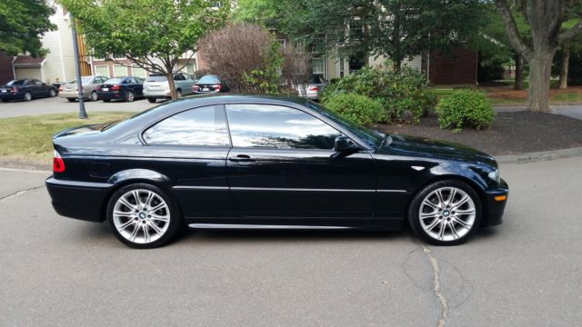2006 bmw 330 zhp black on black 6 speed 6mt e46 coupe 330ci 300i alcantara. Black Bedroom Furniture Sets. Home Design Ideas