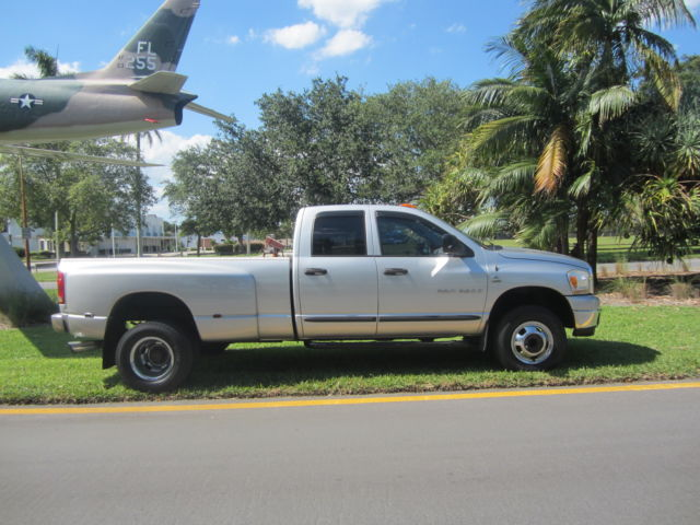 2006 dodge ram 3500 crew cab dually cummins diesel 4x4 clean florida truck l k. Black Bedroom Furniture Sets. Home Design Ideas