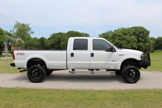 2006 ford f350 lariat superduty fx4 off road lifted fuel wheels