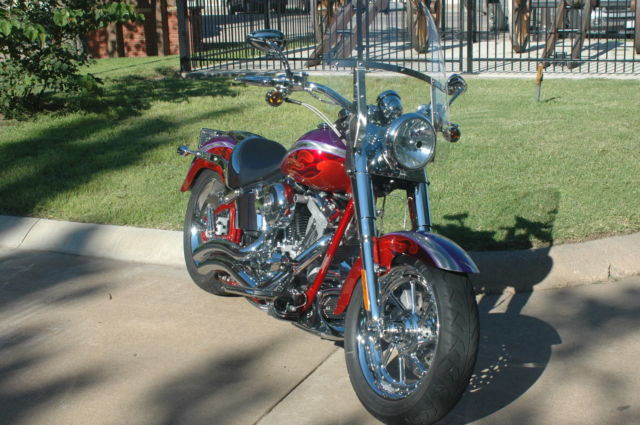Harley Davidson Flstfse Cvo Screamin Eagle Fatboy Limited Edition on Harley Softail Battery